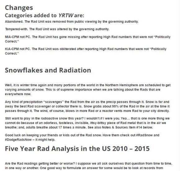 YRTW no 38 changes and snow