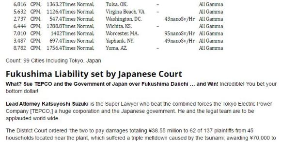 YRTW 9 AND 10 ALPHABETICAL LIST OF RAD CITIES AND FUKUSHIMA TEPCO JAPAN LAWSUIT UPDATE